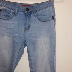 Guess Blue Jeans Curvy Mid Rise Skinny Beyla Fit